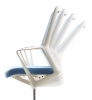 крісло офісне FLO white