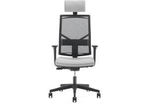 Крісло офісне на роликах play black з підголовником