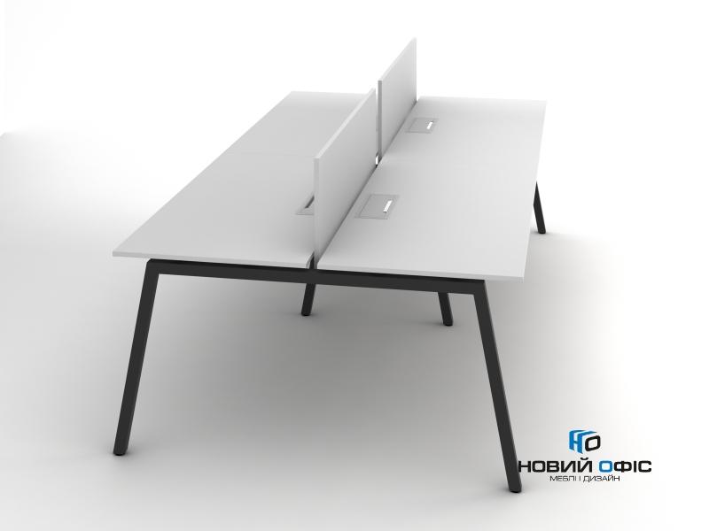 Сучасний офісний стіл на 4 робочих місця 280х75х140 rd-2814 | Фото - 1