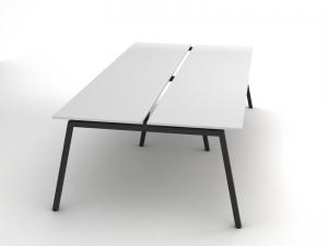 Сучасний офісний стіл на 4 робочих місця 280х75х140 rd-2814