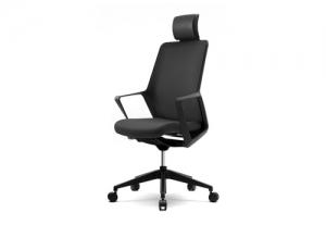 Крісло flo black з підголовником