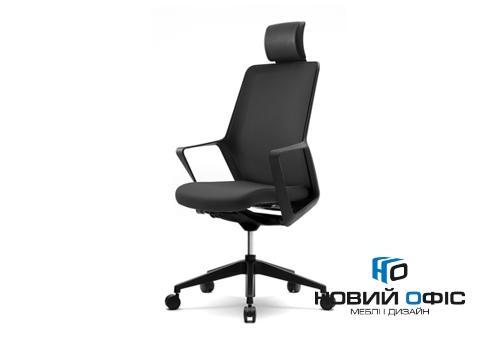 Крісло flo black з підголовником | Фото - 0