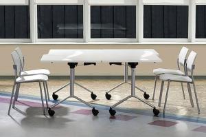 Мобільний складний стіл для переговорів 160х75х80