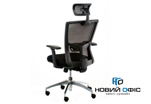 Крісло down black з підголовником | Фото - 2