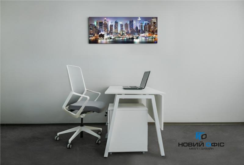 Стильний офісний стіл в білому кольорі 140х75х70rd-1470 | Фото - 2