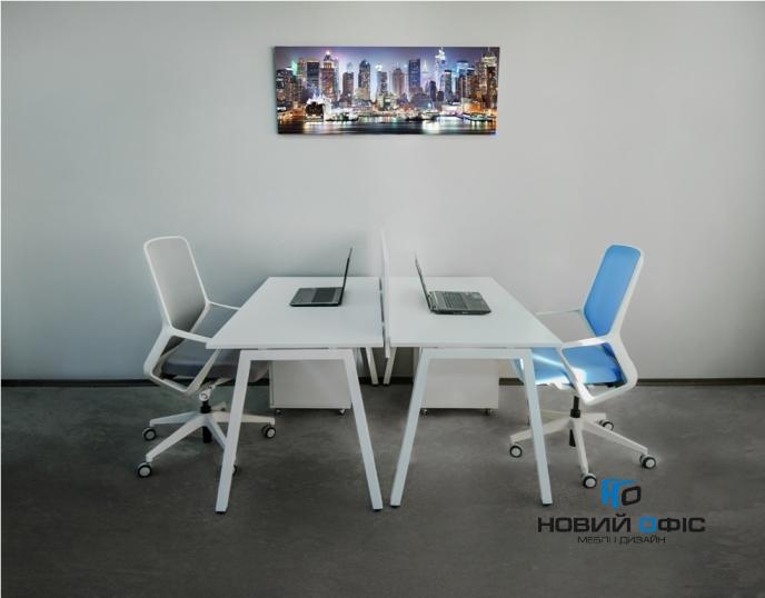 Стильний офісний стіл в білому кольорі 140х75х70rd-1470 | Фото - 9