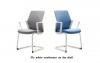 Крісло офісне flo white конференц на полозах