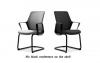 Крісло офісне flo black конференц на полозах | Фото - 1
