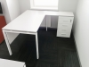 кутовий офісний стіл тумбовий 140х75х150/70x40 kd-14156 L/R   Фото - 6