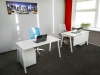 Стильний офісний стіл в білому кольорі 140х75х70rd-1470 | Фото - 5