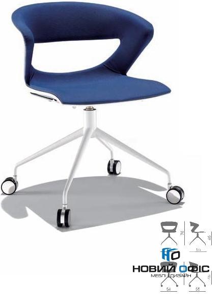 Кресло офисное kicca на 4х лучевой крестовине   Фото - 0