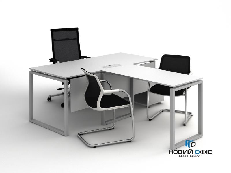 Стіл офісній приставний120х75х60 kqd-1260 | Фото - 4