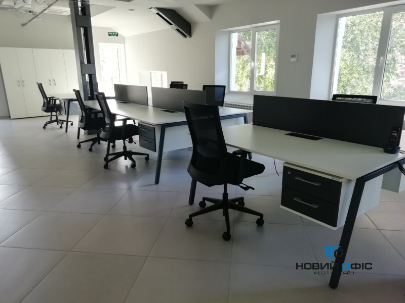 Сучасний офісний стіл на 4 робочих місця 280х75х140 rd-2814 | Фото - 2