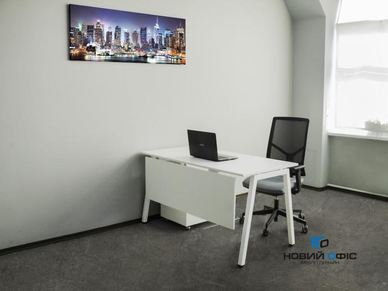 Стильний офісний стіл в білому кольорі 140х75х70rd-1470 | Фото - 7