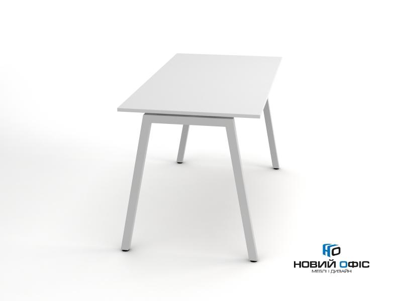 Стильний офісний стіл в білому кольорі 140х75х70rd-1470 | Фото - 0