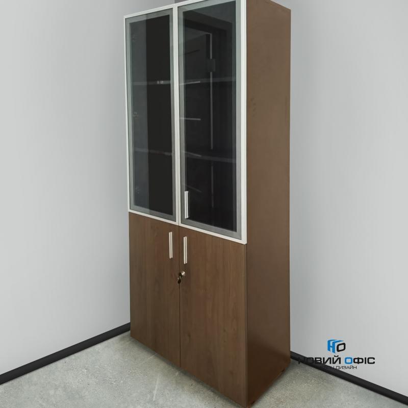 Шафа для документів офісна на 5 полиць (дсп і скляні фасади)  80х193х42 арт. Ur-2523g | Фото - 1