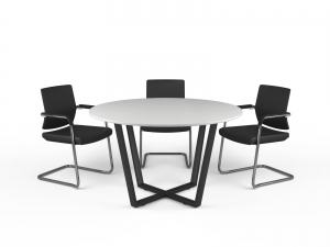 Стіл для переговорів круглий 130х75х130 kdm-130
