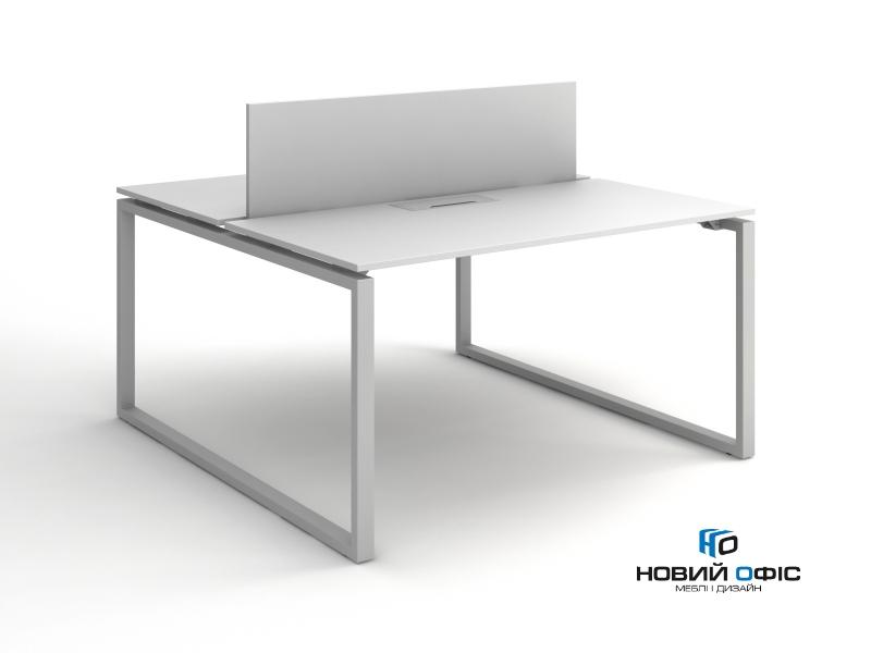 Стіл офісний для двох робочих місць 140х75х140 kqd-1414 | Фото - 1