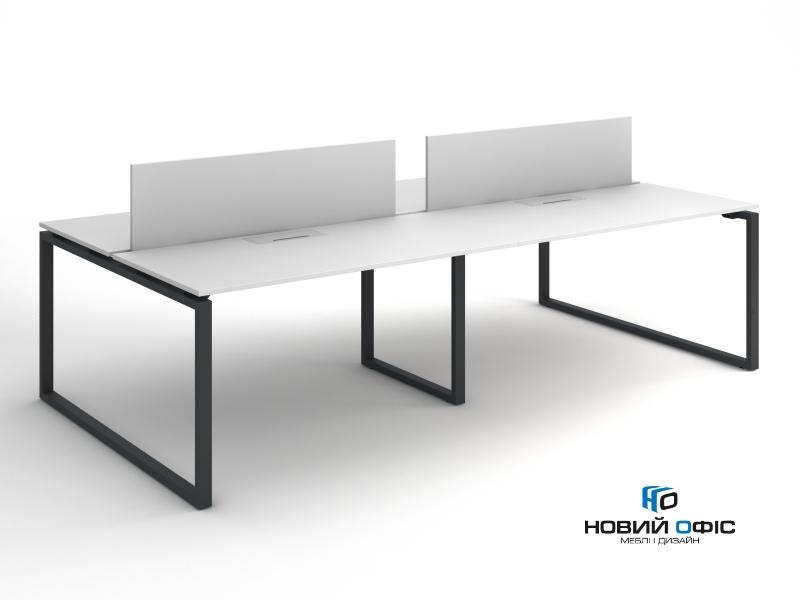 Офісний стіл на 4 робочих місця 280х75х140 kqd-2814 | Фото - 2