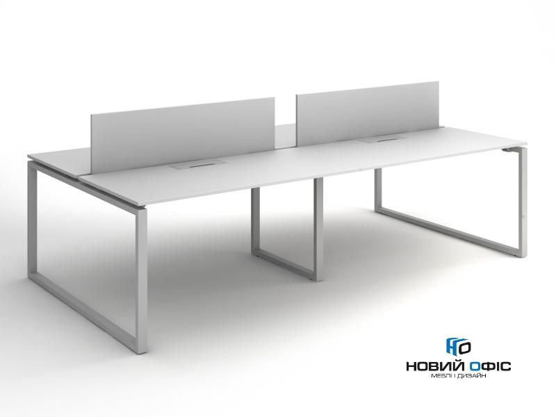 Офісний стіл на 4 робочих місця 280х75х140 kqd-2814 | Фото - 0