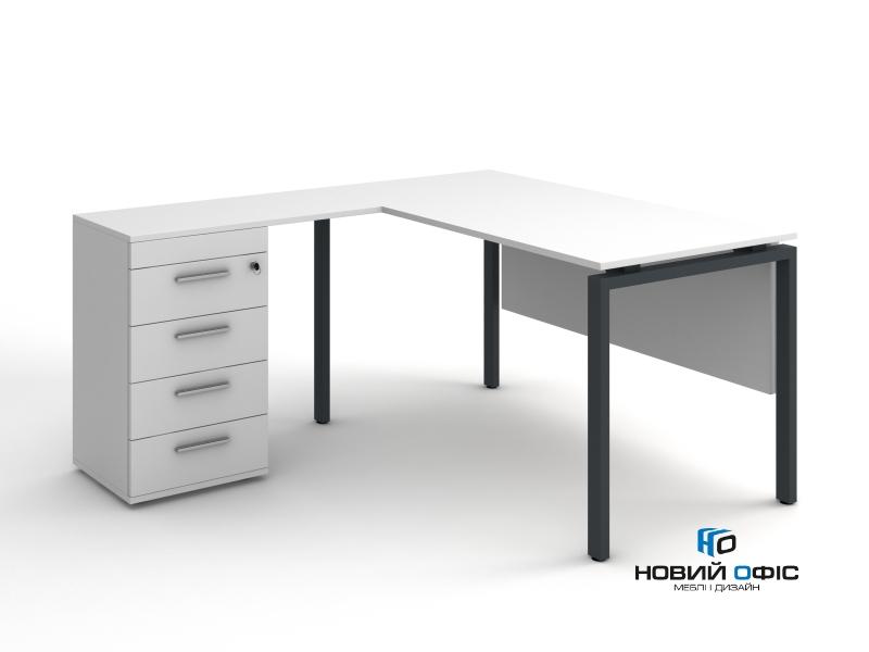 кутовий офісний стіл тумбовий 140х75х150/70x40 kd-14156 L/R   Фото - 3