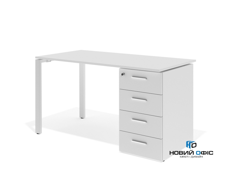 офісний стіл з тумбою 140х75х70 kd-1470C | Фото - 1