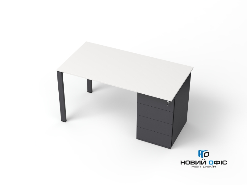 офісний стіл з тумбою 140х75х70 kdz-1470CP | Фото - 2
