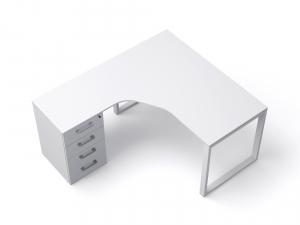 кутовий офісний стіл тумбовий 140х75х157/70 kqd-14157-L/R