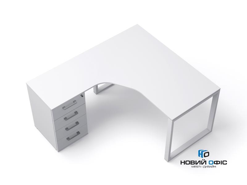 кутовий офісний стіл тумбовий 140х75х157/70 kqd-14157-L/R | Фото - 0