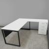 кутовий офісний стіл тумбовий 140х75х150/70x40 kqd-14156 L/R | Фото - 6
