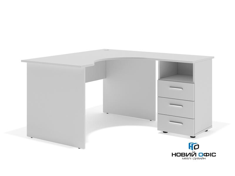 кутовий офісний стіл тумбовий 135х75х130/70x40 sd-13157R | Фото - 1