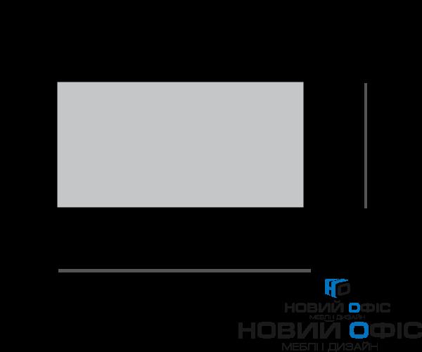 Стильний білий офісний стіл 140х75х70 kd-1470  | Фото - 1