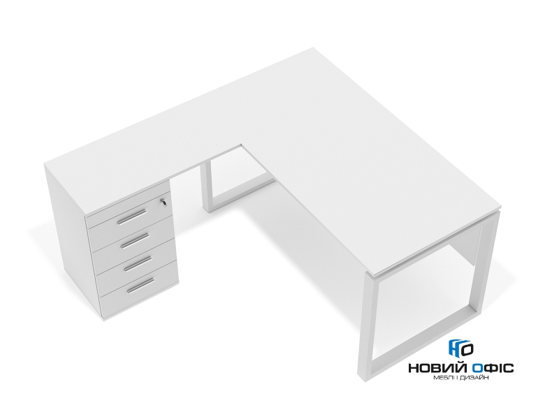 кутовий офісний стіл тумбовий 140х75х150/70x40 kqd-14156 L/R | Фото - 0
