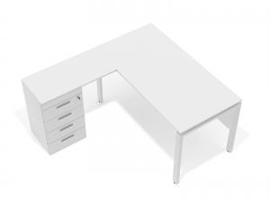 кутовий офісний стіл тумбовий 140х75х150/70x40 kd-14156 L/R