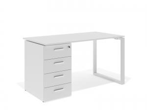 офісний стіл з тумбою 140х75х70 kqd-1470C