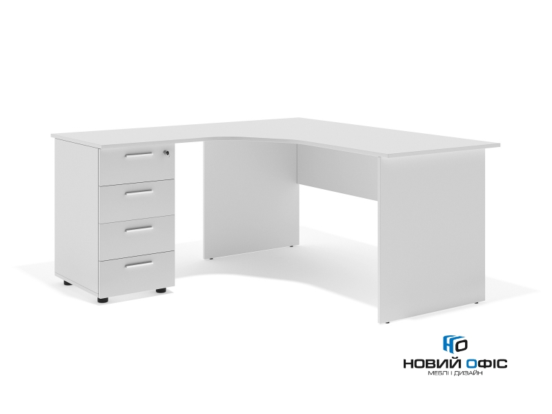 кутовий офісний стіл тумбовий 160х75х157/67 sdk-16157L   Фото - 1