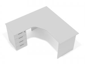 кутовий офісний стіл тумбовий 160х75х130/70x40 sdk-16157L
