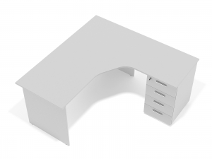 кутовий офісний стіл тумбовий 160х75х130/70x40 sdk-16157R