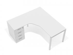 кутовий офісний стоіл тумбовий 140х75х150/70x40 kd-14157-L/R