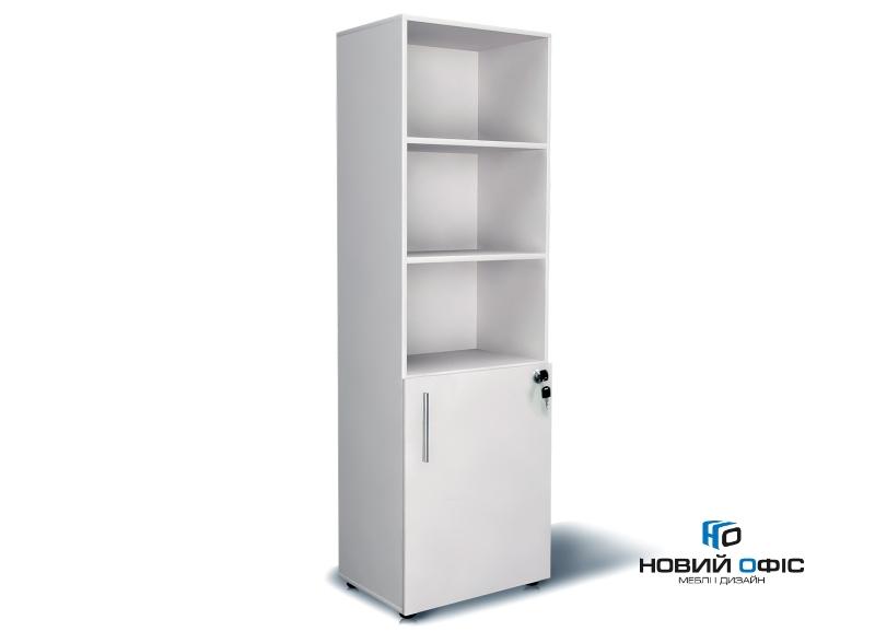 Шкаф для документов на 5 полок узкий(2 полки закрыты фасадом) 60х195х40 арт. Ur-152 | Фото - 0