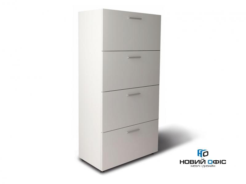 Шафа для документів офісний на 4 файловых ящики 80х155х42 арт. Ur-244f | Фото - 0