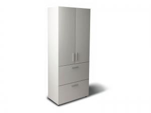 Шафа для документів офісна на 3 полиці та 2 файлових ящики (3 полиці закриті фасадами) 80х193х42 арт. Ur-2523f