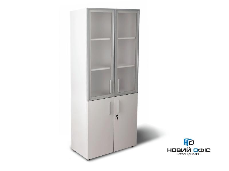 Шафа для документів офісна на 5 полиць (дсп і скляні фасади)  80х193х42 арт. Ur-2523g | Фото - 0