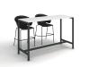 високий стіл для переговорів 160х120х60 kdm-1660 | Фото - 1